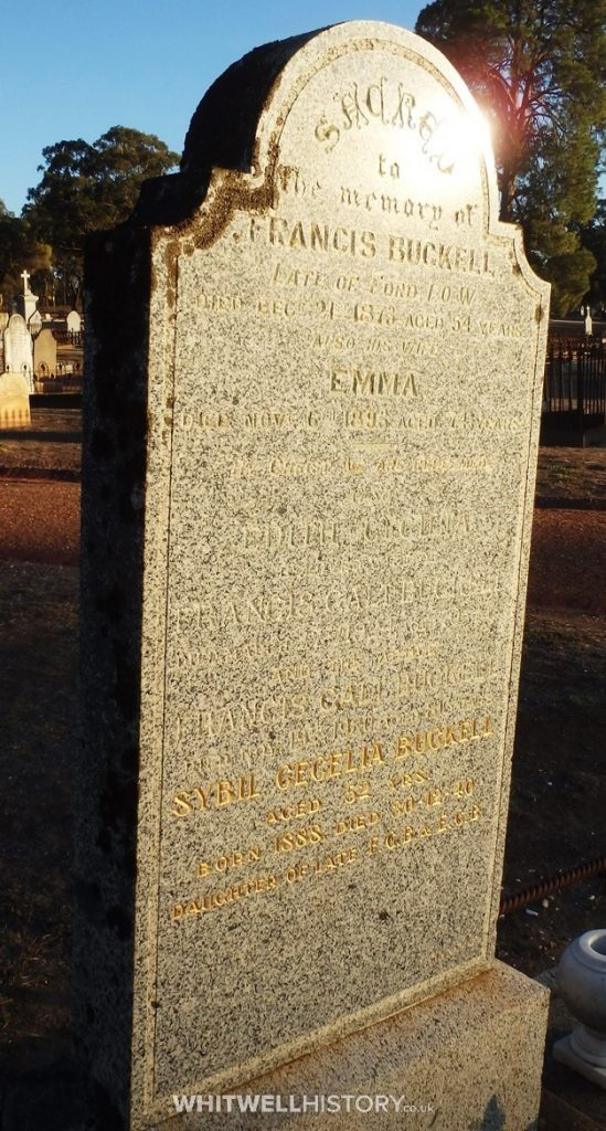 Francis Buckell of Ford Grave Stone