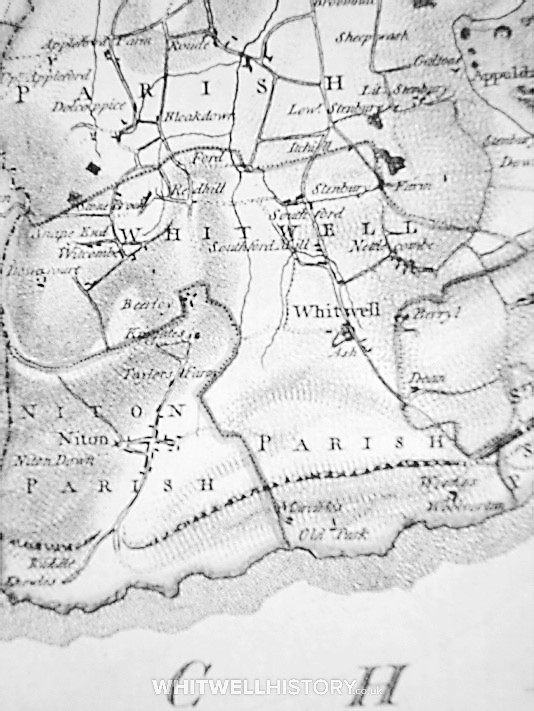Worsley's Map of Whitwell 1781