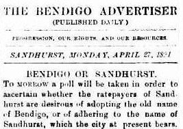 The Bendigo Advertiser 1891